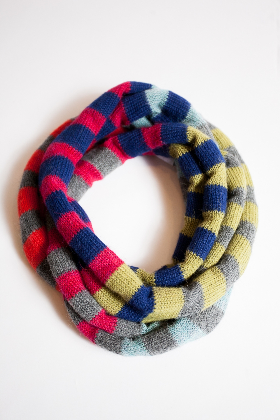 Bright Stripes Infinity Scarf